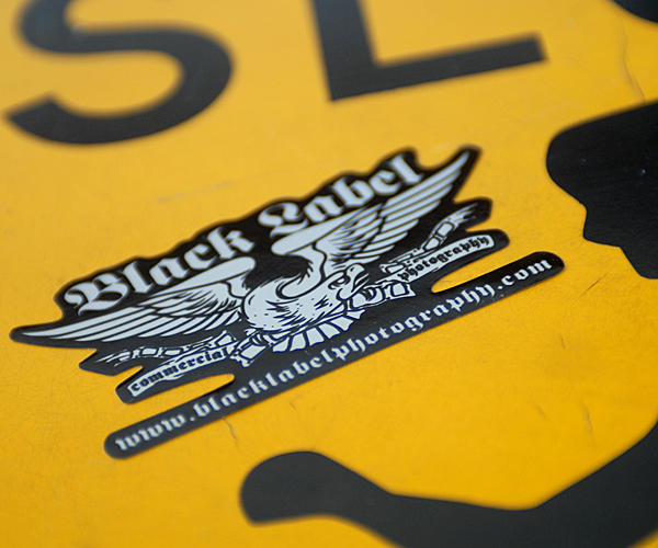 Black Label Commercial Photography Stickers